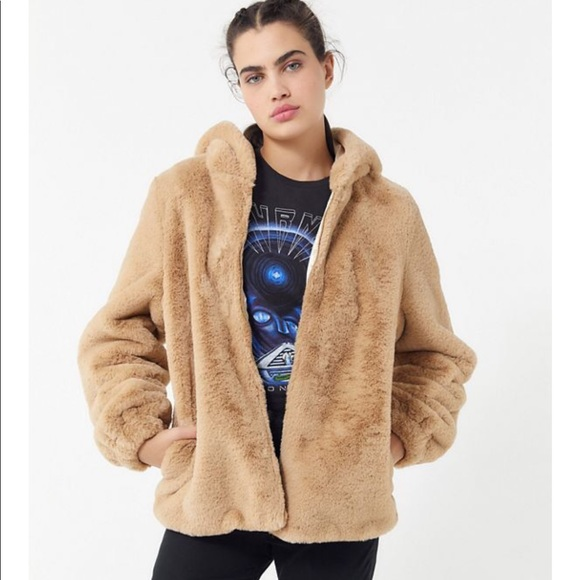 Urban Outfitters Jackets & Blazers - Urban Outfitters Faux fur hooded coat